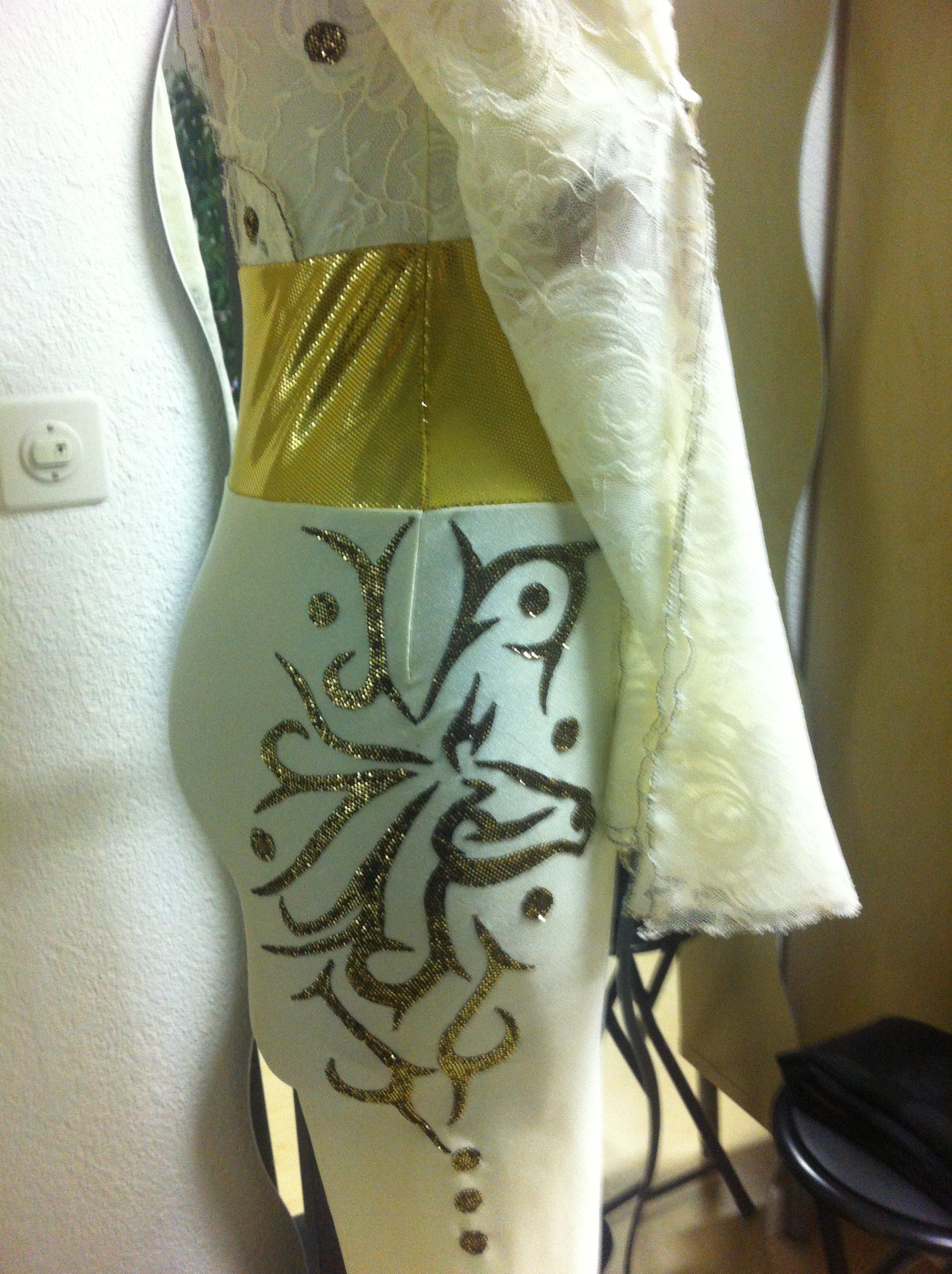 Stoff Tatoo auf Lycra Stoffe von Cony's Dance Design