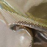 Stoff gold Glanz mit kleinen Pailletten bi-Stretch Lycra